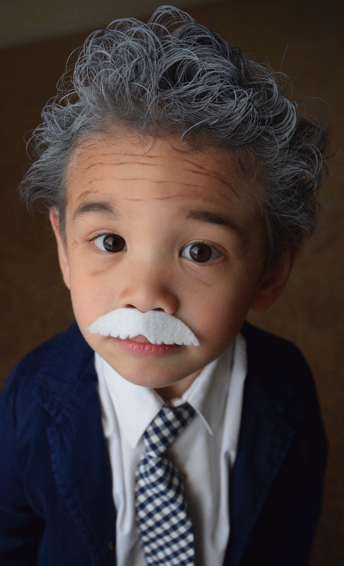 Einstein Costume For A Little Boy  White Hair Spray,