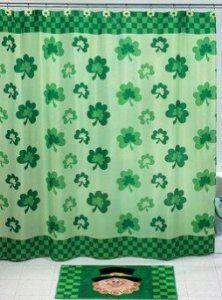 Amazon Com Shamrock Shower Curtain St Patricks Day Saint