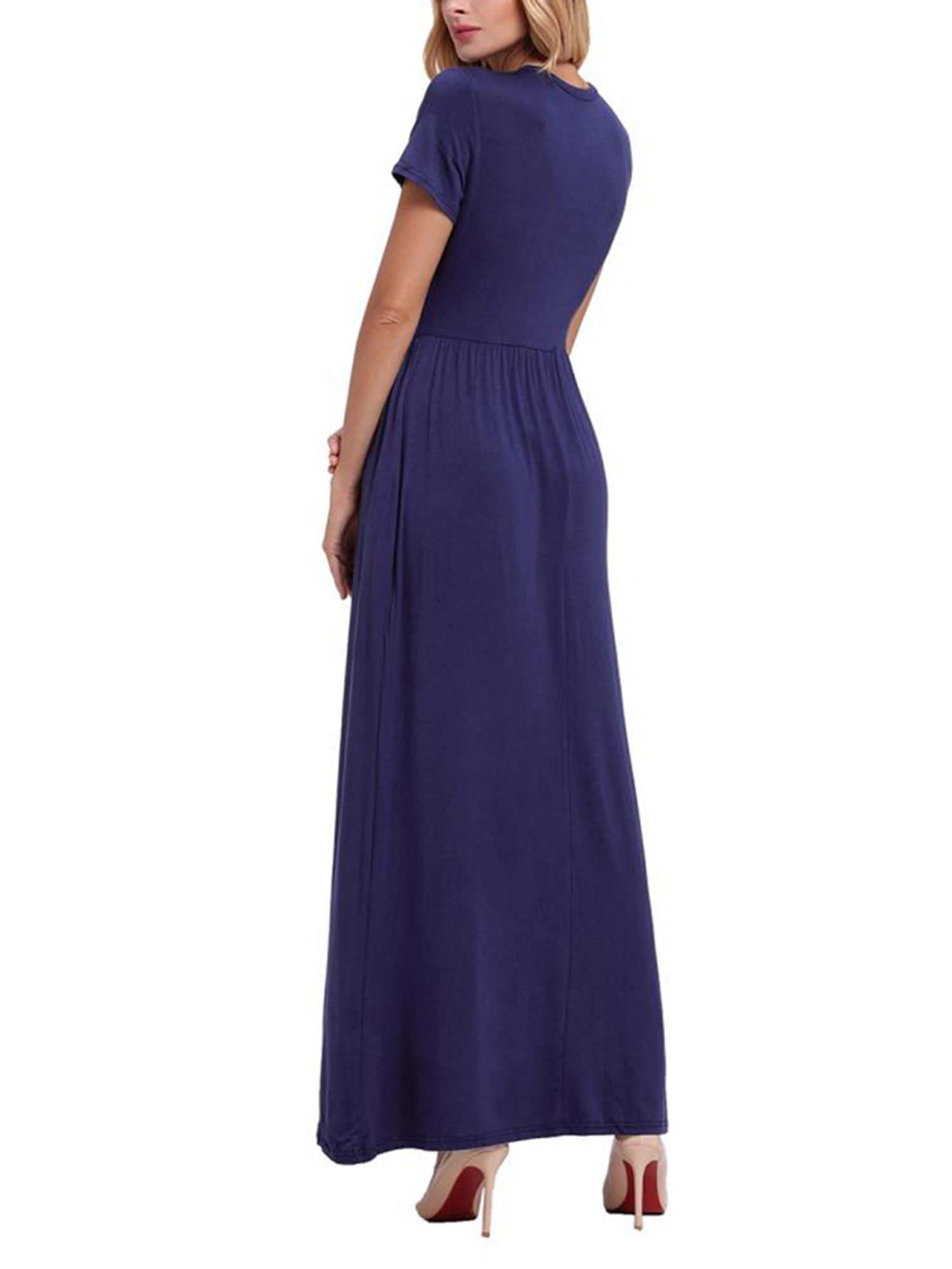 2f9b3d410 Women Long Maxi Dresses Casual Plus Size Fashion Shirt Dresses Online Baggy  Sundress Short Sleeve Loose#Casual, #Size, #Fashion