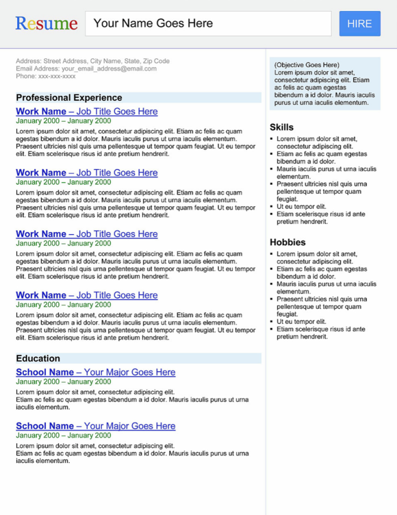 search engine template resume resume search engine