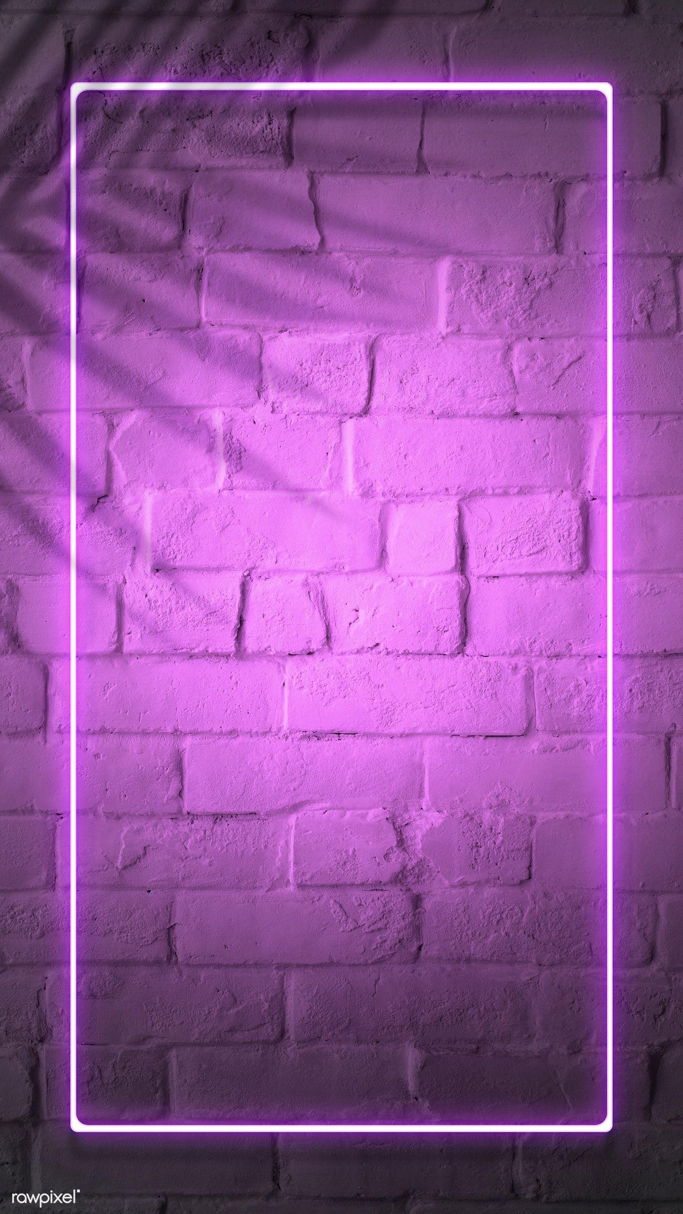 Download premium illustration of Tropical pink neon lights phone screen