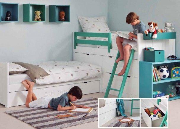 Habitaci n infantil para 3 ni os novedades de mueble - Habitacion juvenil nino ...