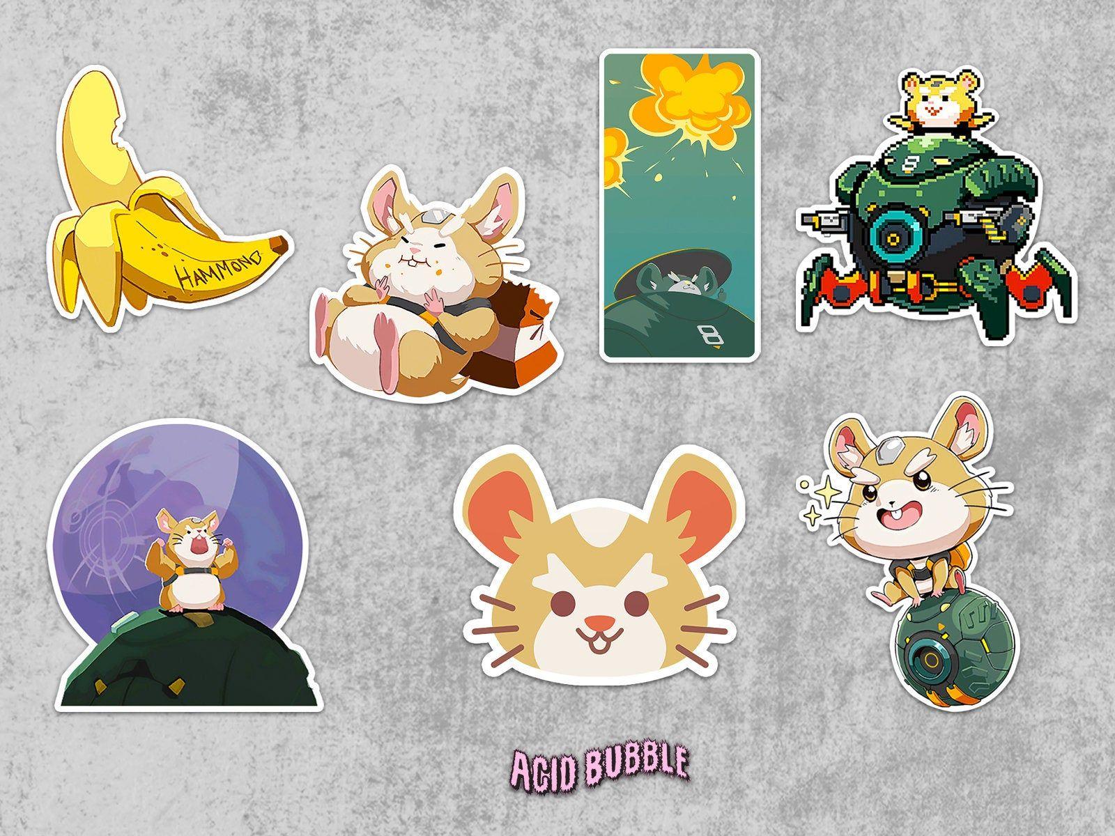 Overwatch Wrecking Ball Sticker Overwatch Spray Art Sticker Hammond Spray Iphone Sticker Decal Vinyl St Sticker Art Vinyl Stickers Laptop Iphone Decal Stickers [ 1200 x 1600 Pixel ]