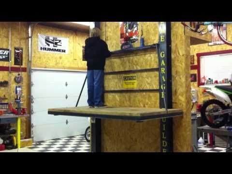 Garage Attic Lift Construction Youtube Studio Stuff In