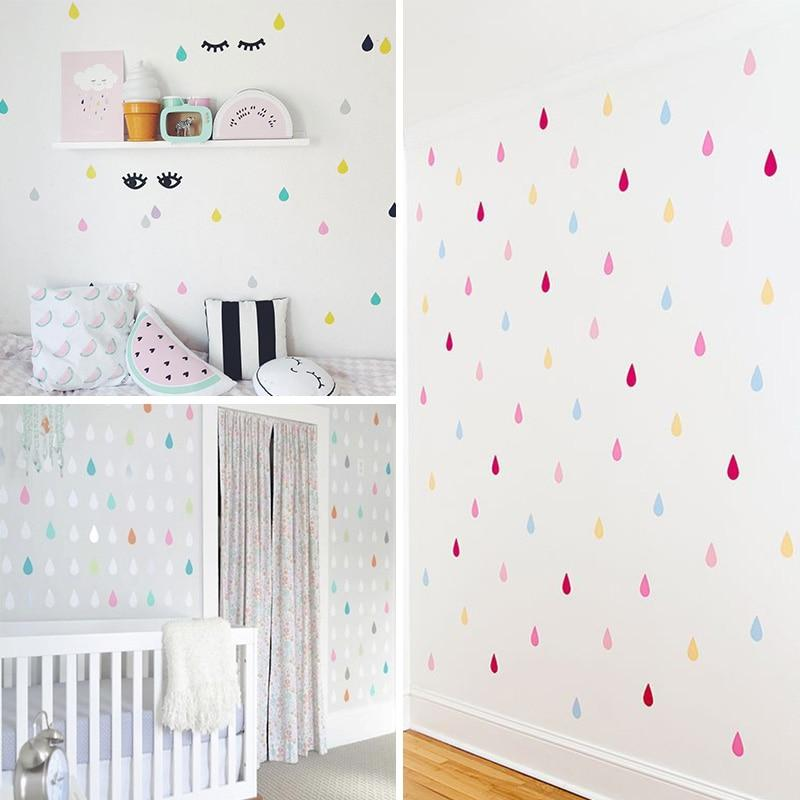 Small Raindrop Wall Sticker For Kids Room Baby Girl Room Wall Decor Ba Boo Bootik Baby Room Wall Decor Baby Room Wall Girls Room Wall Decor