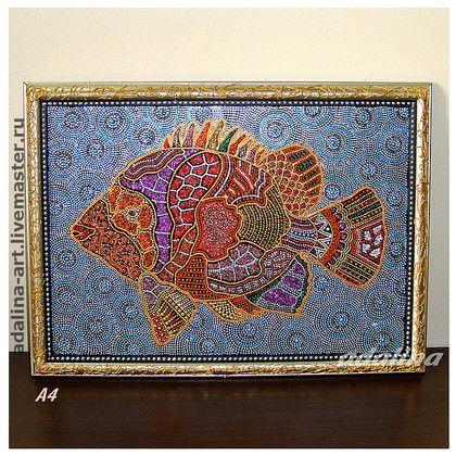 РЫБКА НОРА картина - картина,картина в подарок,Картины и панно,рыба,рыбка