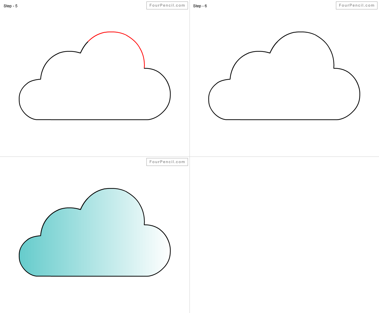 How To Draw A Cloud For Kids
