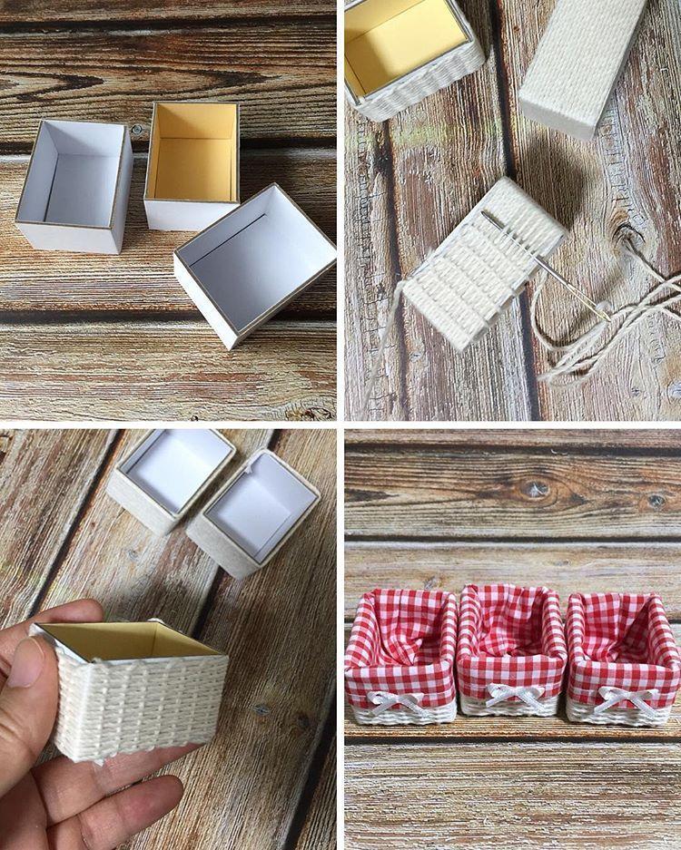 Kleine Obstkisten aus Rührstäbchen fürs Puppenhaus / Wooden crate / Dollhouse miniatures ^ Diy - MyKingList.com - MyKingList.com #dollhouseminiaturetutorials