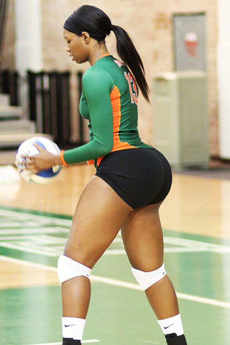 black girls in volleyball shorts