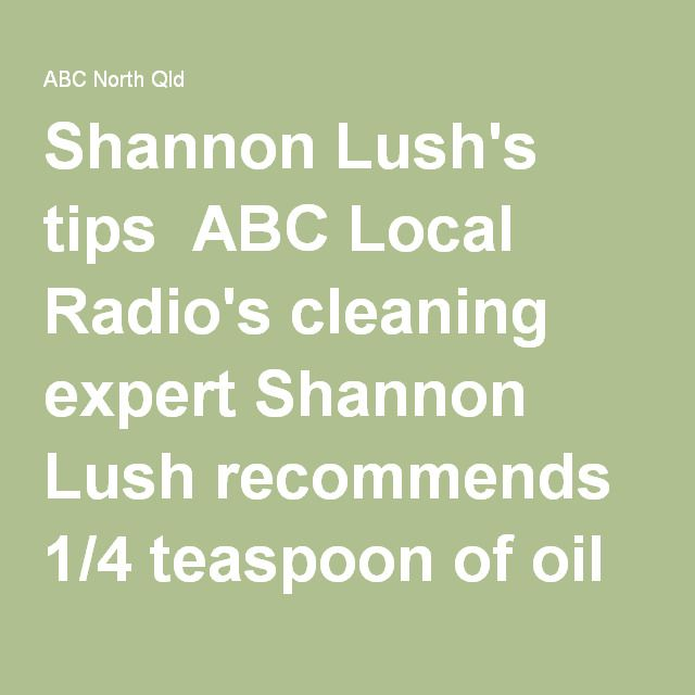 Shannon Lush S Tips Abc Local Radio S Cleaning Expert
