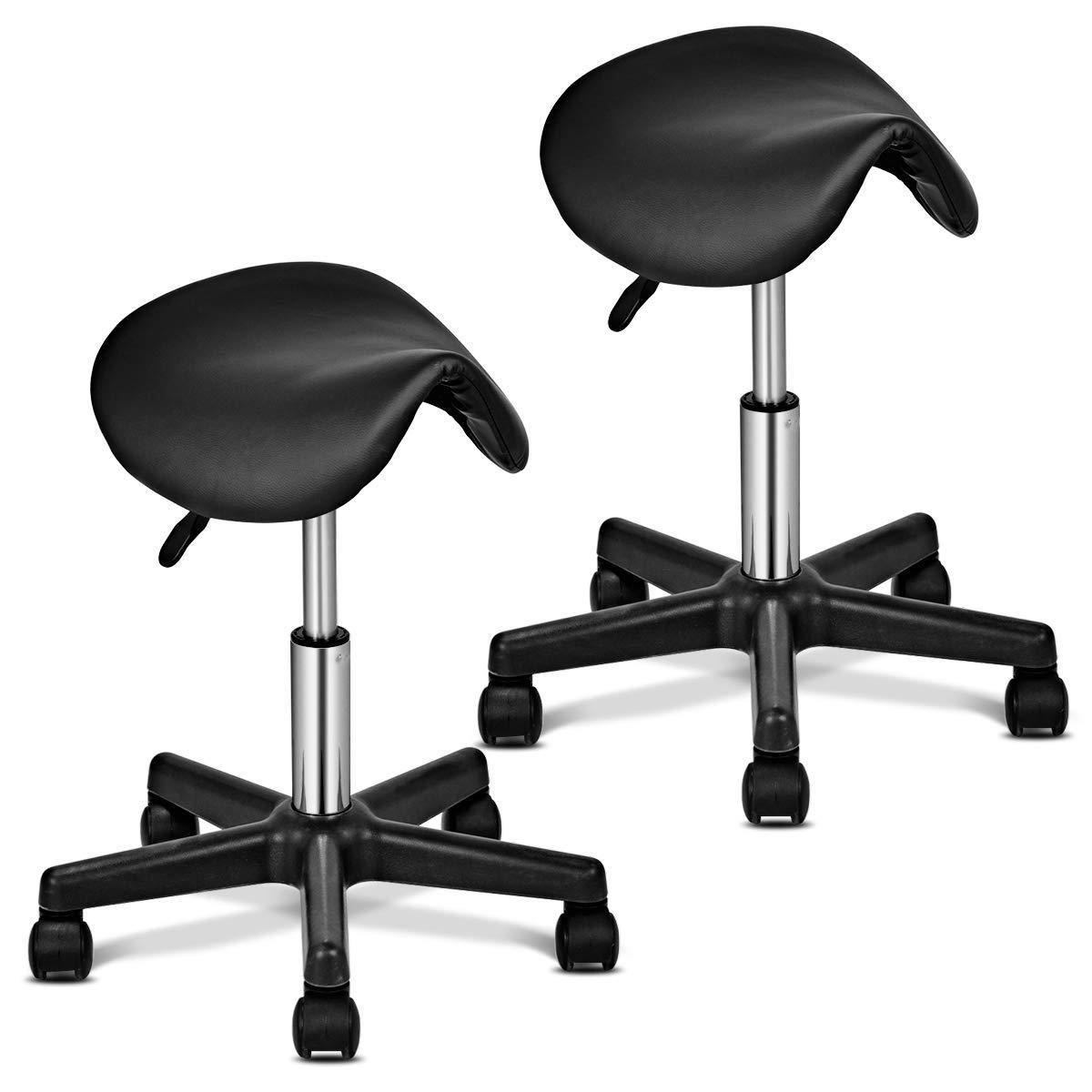 Giantex salon stool chair adjustable hydraulic rolling