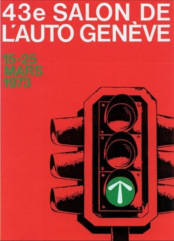 1973 Geneva Motor Show Poster