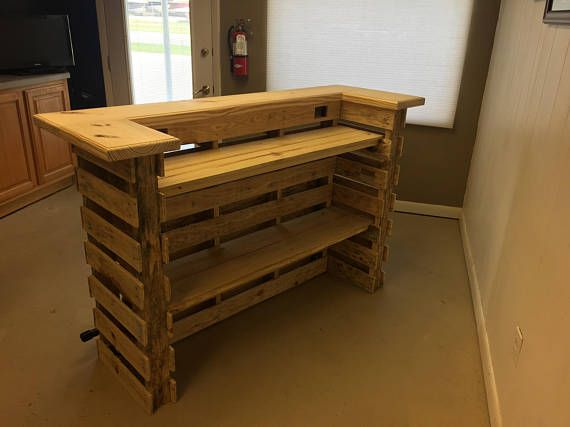 The Natural Pallet Bar Tiki Bar Un Stained Finish