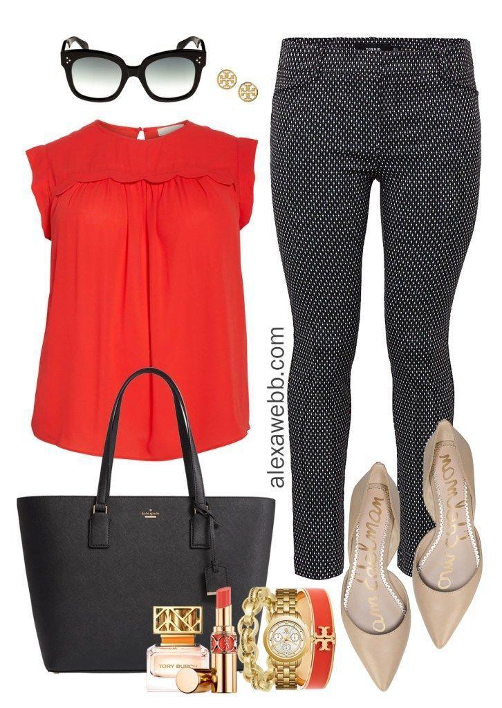 Photo of Plus Size Work Outfits – Black & White Pants – Alexa Webb