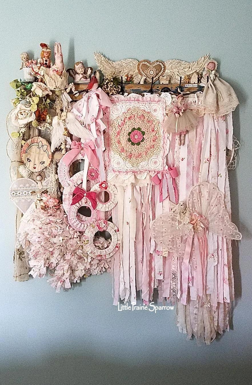 Pink Flag Prairie Flag Shabby Chic Decor Wedding Backdrop