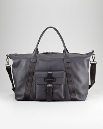 2fc0c69bc3 Alpha Leather Duffel Bag by Salvatore Ferragamo at Neiman Marcus ...
