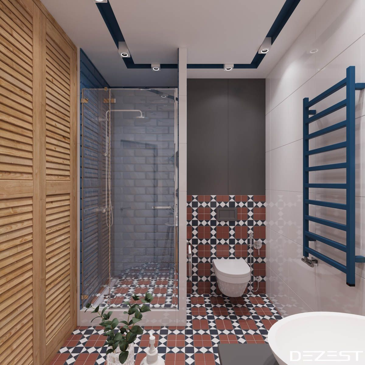 Four Modest Sized Homes Going Big On Style  Bathroom