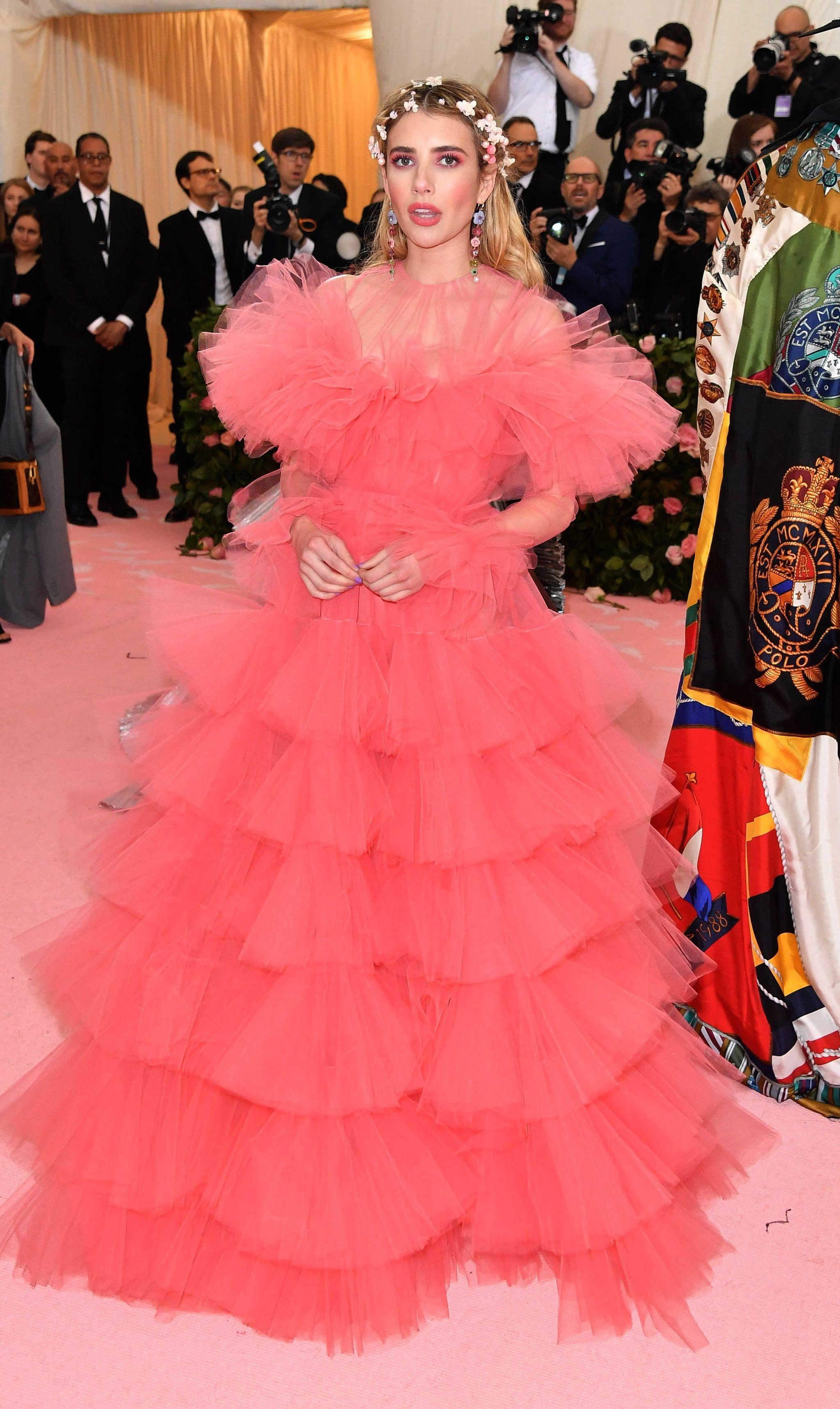 Emma Roberts At The 2019 Met Gala Met Gala Met Gala Dresses Met Gala Looks