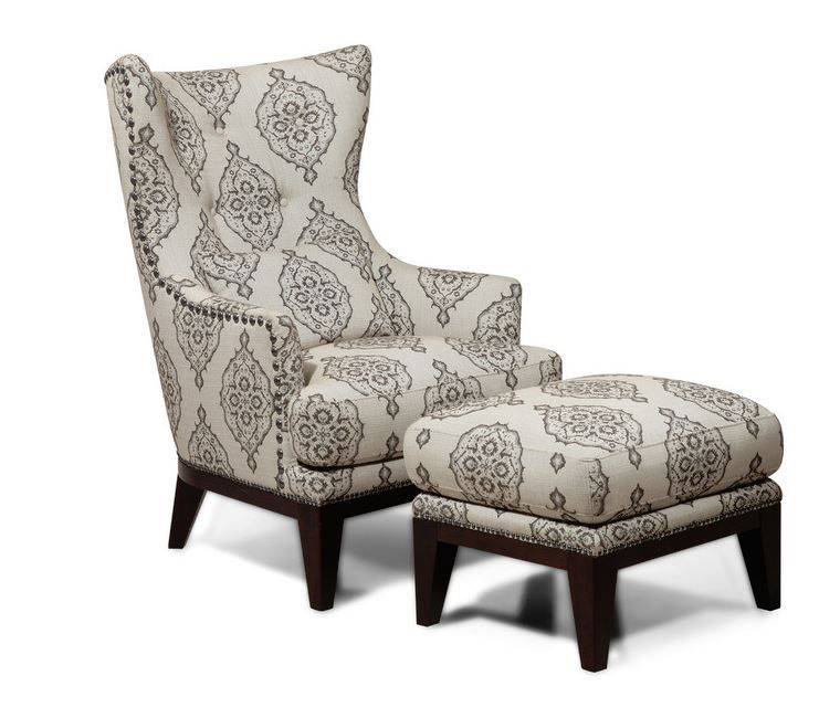 Simon Li Fabric Accent Chair And Ottoman Set Light Gray Marquis Wingback Chair Accent Chairs For Sale High Back Accent Chairs
