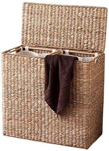 Birdrock Home Oversized Divided Hamper With Liners Honey