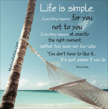 Life Is Simple Go With The Flow Quote Motivationalquote