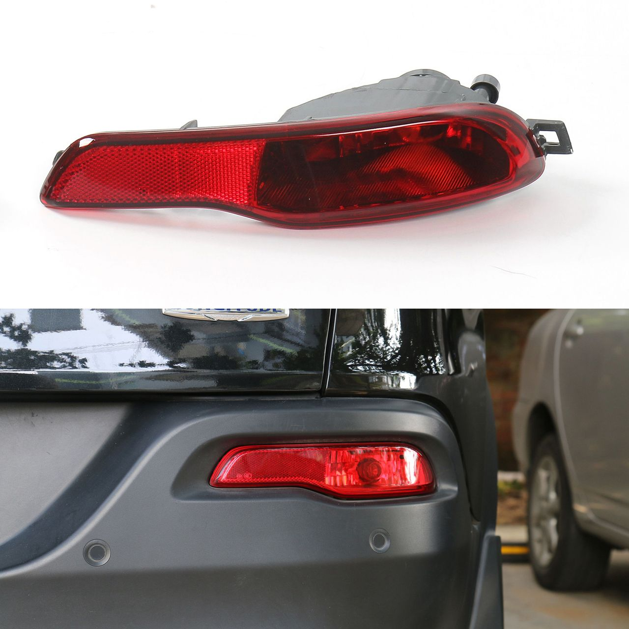Mad Hornets Red Lens Rear Bumper Reflector Fog Brake Light Right Side Jeep Cherokee 2014 2016 42 99 H Cherokee 2014 Jeep Cherokee 2014 Jeep Cherokee Parts