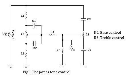 The James-Baxandall Passive Tone-Control Network