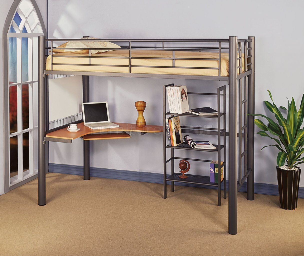 p furniture edison loft company over metal hdtotmpbl bed bunk twin walker black beds rustic