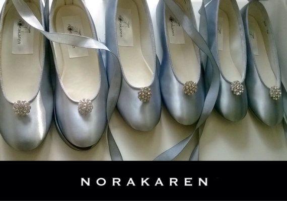 7621d170503 Silver Girls shoes ballerina flatssilver flats by norakaren ...