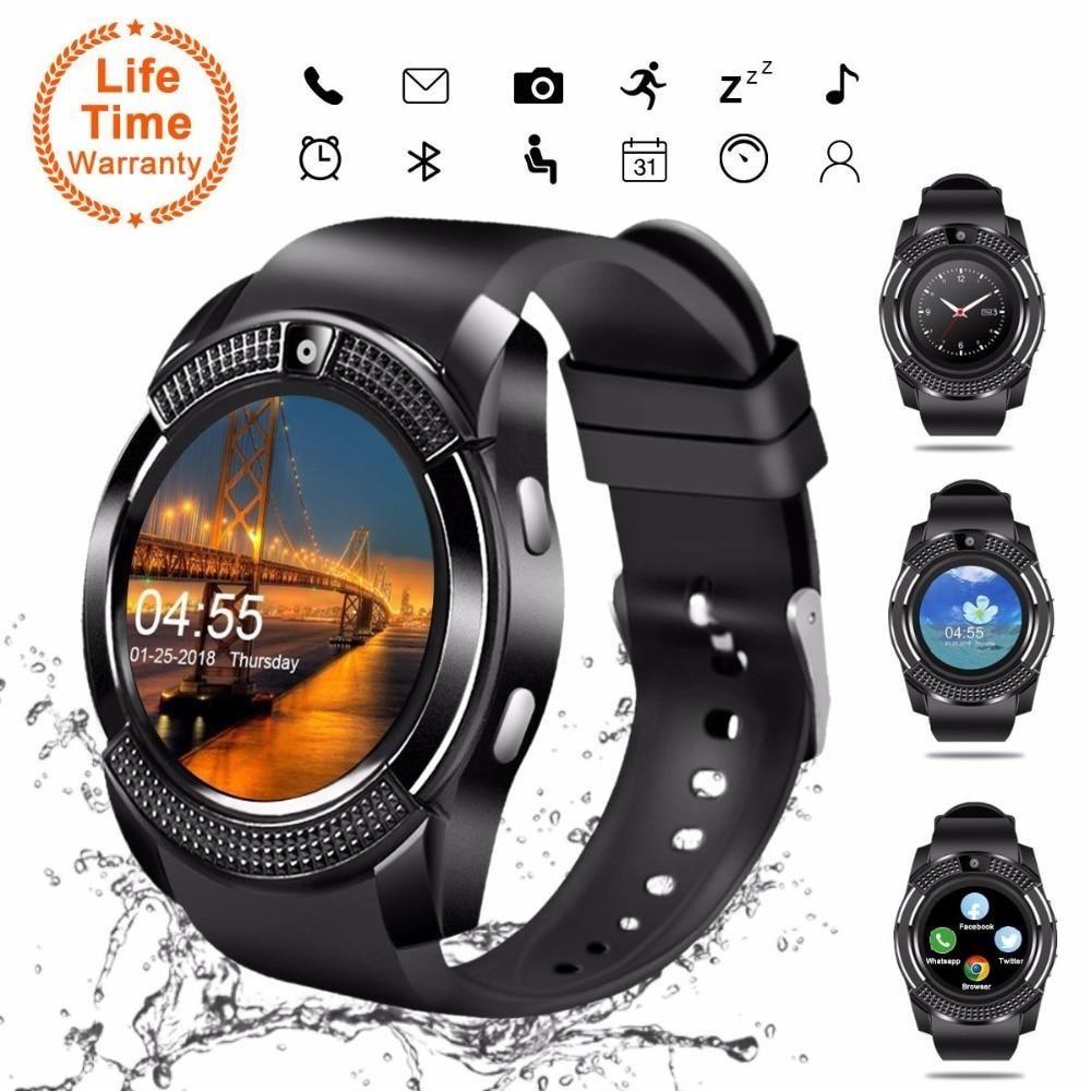 Bluetooth Smartwatch Touch Screen Wrist Watch with Camera