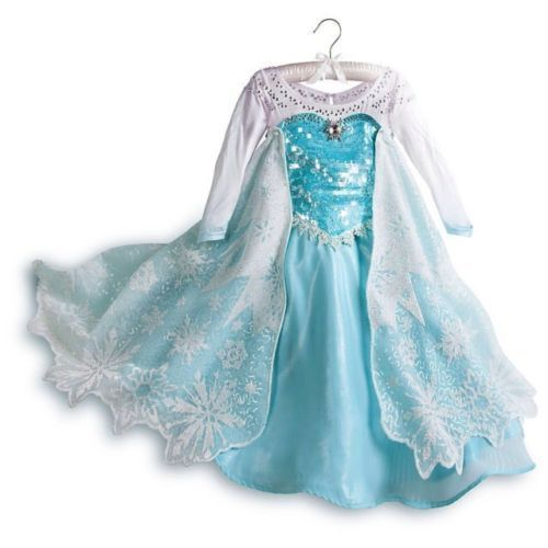Kids Girls Frozen Princess Queen Cosplay Costume Party Fancy Dress Cinderella UK