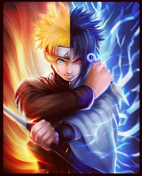 Naruto V Sasuke Digital Art Anime Land Naruto Shippuden Online Naruto Art