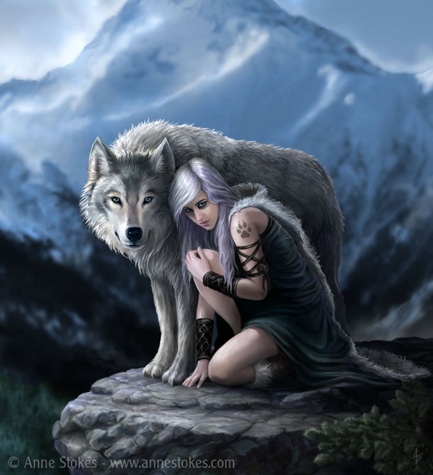This is an artwork that I have just completed. I think wolves are wonderful creatures and although from the real world I hope this composition implies an element of fantasy by the character's unusu...