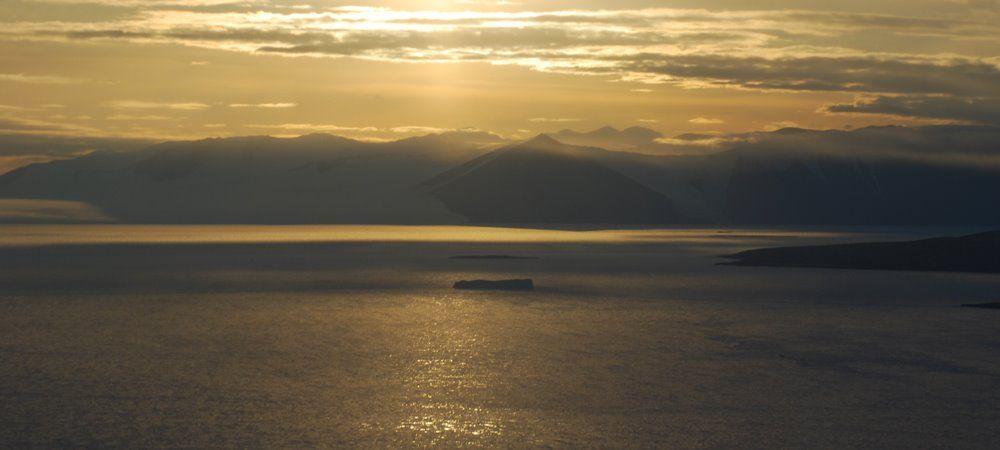 Sunset towards Ferrar Glacier, Antarctica