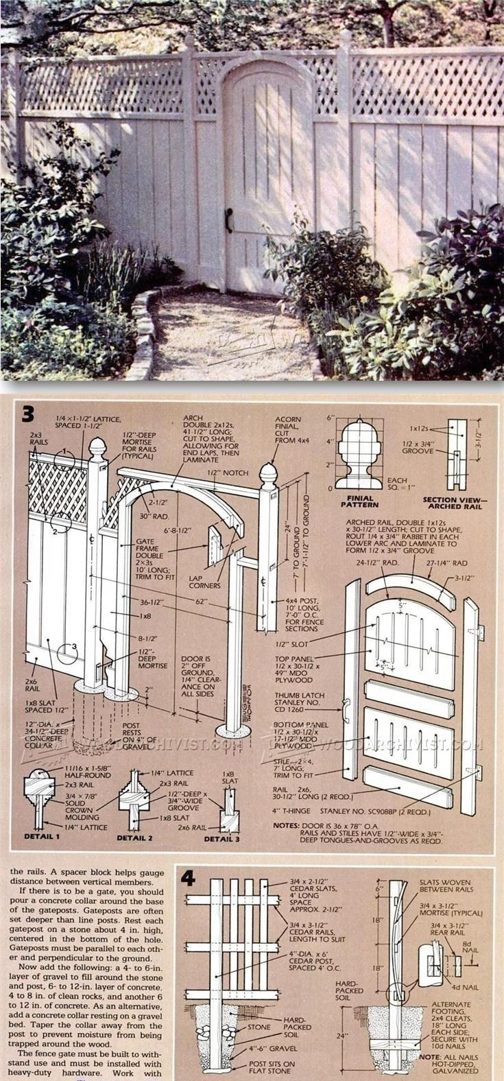 Wood Fence Plans - Outdoor Plans and Projects