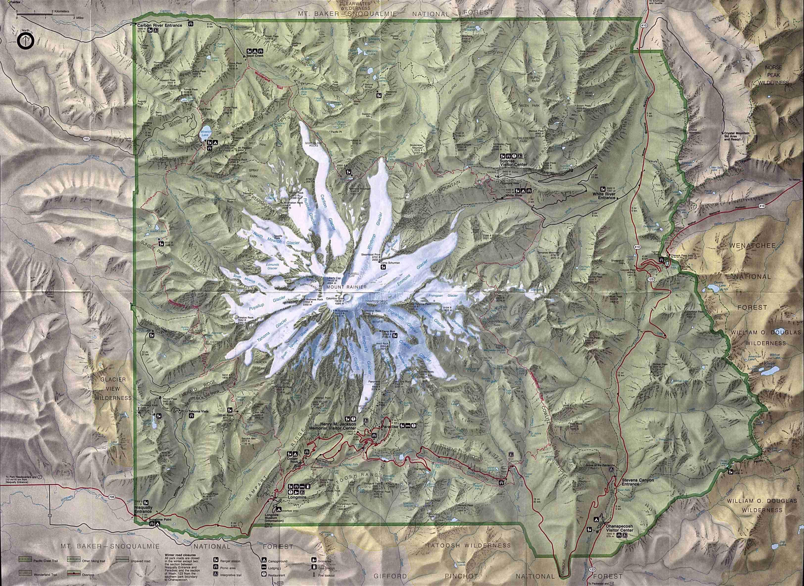 Mount Rainier map Mount Rainier map