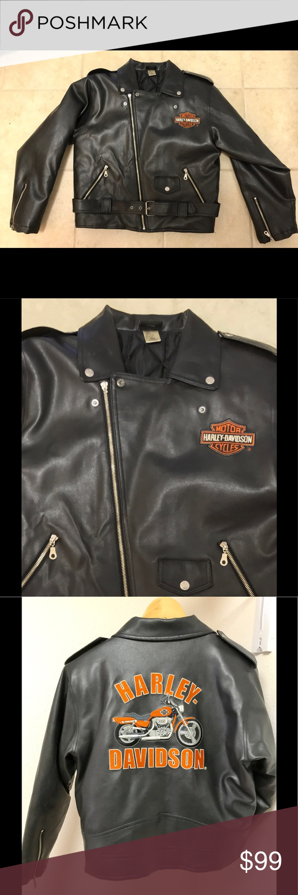 Harley Davidson leather jacket. Nice jacket, used with