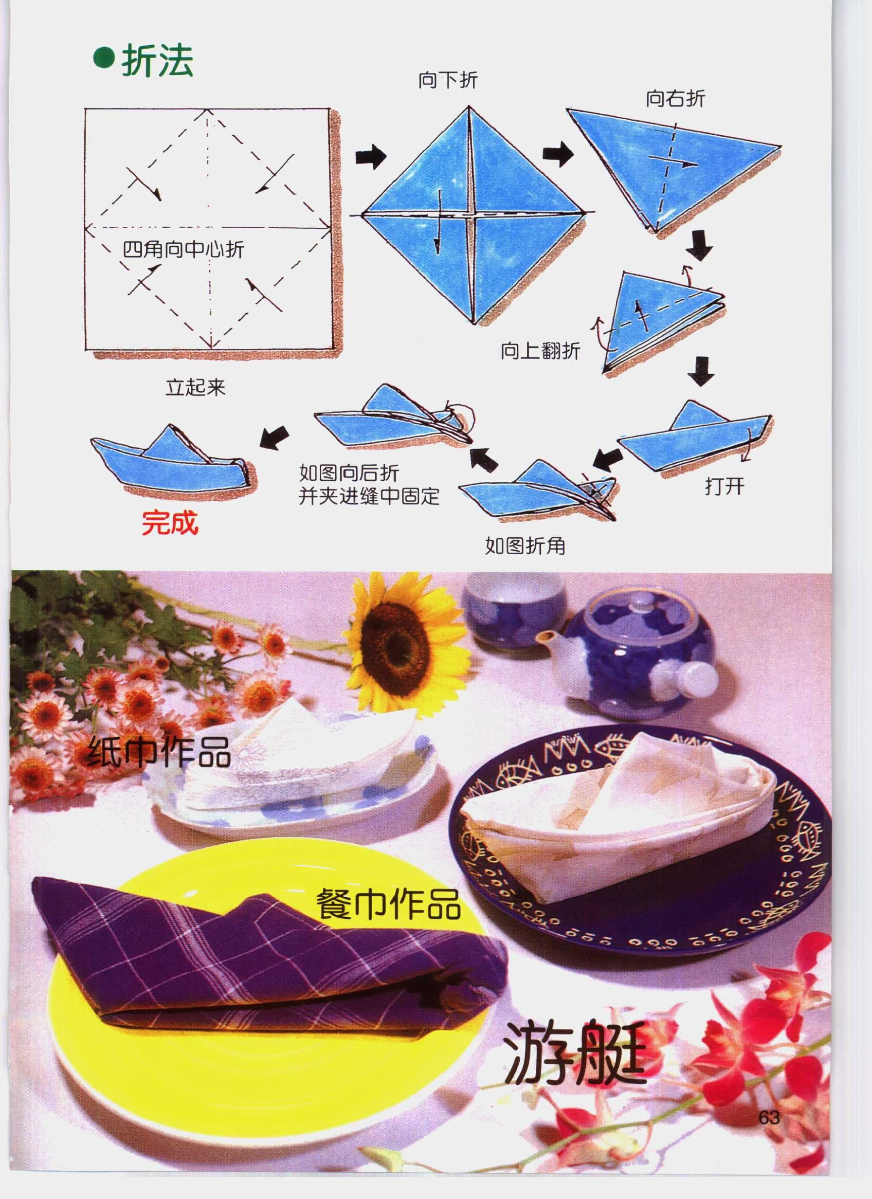 Fold Napkins Yacht Napkin Folding Toilet Paper Origami Napkins