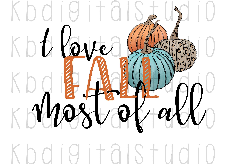 Download I Love Fall Most of All Teal Pumpkin, Leopard Pumpkin ...