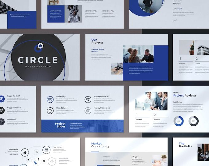 Minimal Clean Business PowerPoint Presentation Template | Etsy