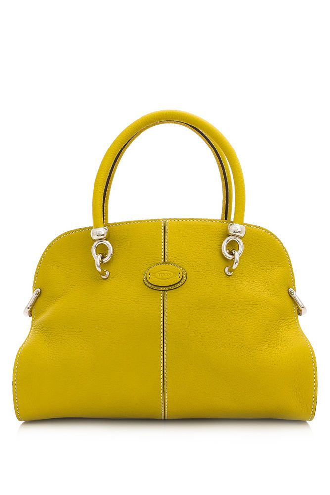 197cbb2123e6 TOD S SELLAS SMALL BOWLER YELLOW BAG HAMMERED LEATHER TOTE  XBWAMEA02008BN716I  TODS  ShoulderBag
