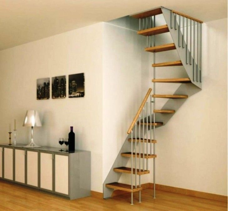 Stunning Staircase And Elevator Design Ideas: Interior: Smallest Spiral Staircase For Narrow Space