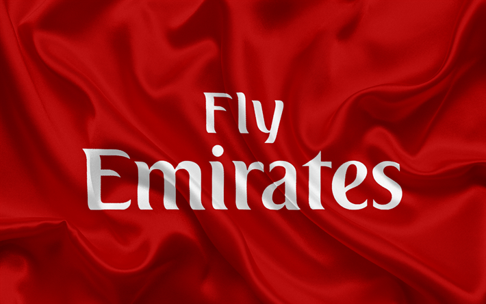 Download Wallpapers Emirates Airline Emblem Logo Airlines UAE Dubai