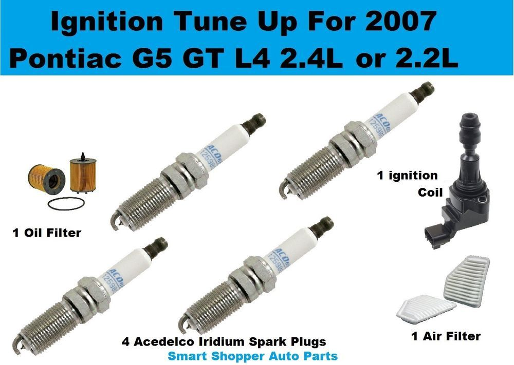 Ignition Tune Up Kit For 2007 Pontiac G5 Ignition Coil