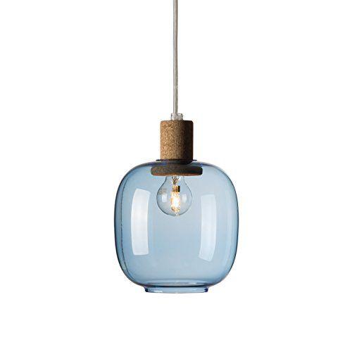 Enrico Zanolla Picia Glas und Kork Pendelleuchte, blau LT... http ...