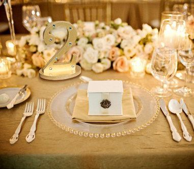 Gold Table Numbers for Weddings - freestanding, rustic gold table ...