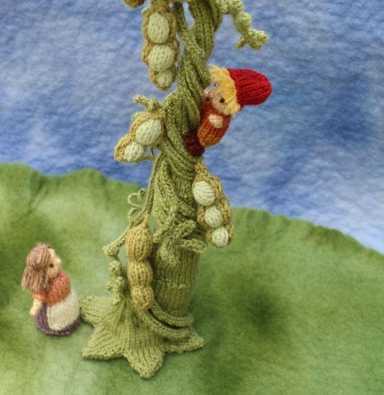 Knitted beanstalk