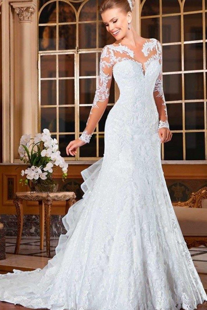 on sale 1f1e4 639e8 Adelfa - abito da sposa elegante in pizzo, tulle e organza ...