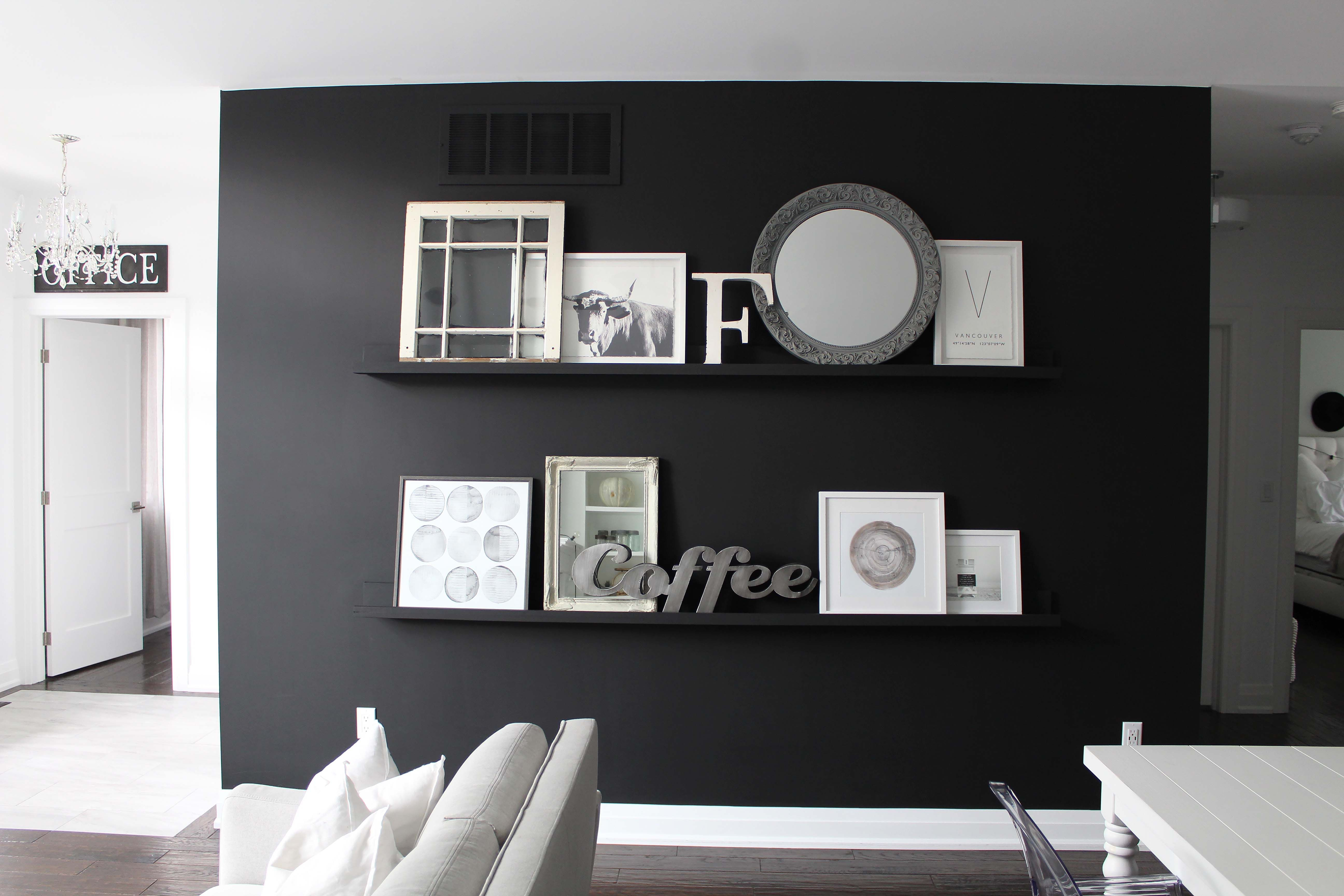 Our Black Accent Wall Accent Wall Black Accent Walls Diy Accent Wall