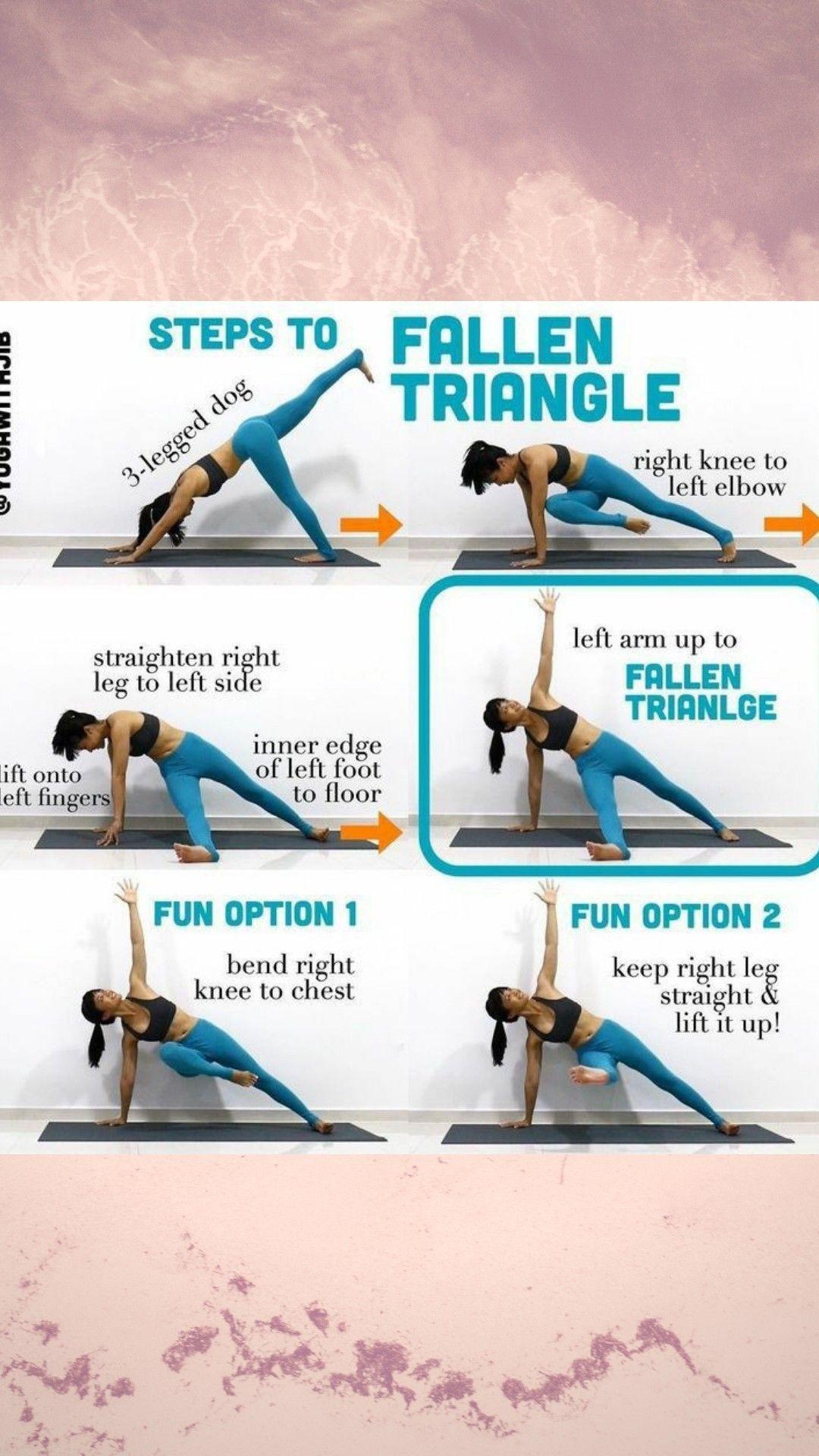 Triangle Pose Steps